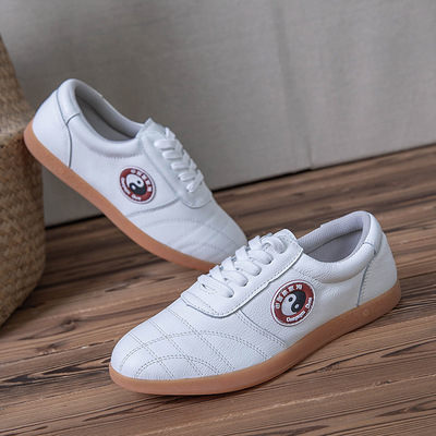 Full leather sole shoes anti slip low top martial arts traditional sports shoes for men and women