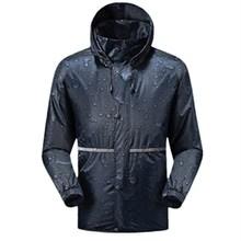 2019冬季防寒短款雨雨衣上衣男單件加厚保暖徒步半身帶袖戶外新款