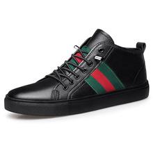 冬季馬丁靴男靴真皮頭層牛皮男士短靴子英倫加絨軍靴潮流高幫男鞋