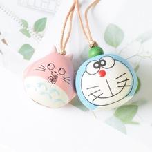 廠家直銷韓版卡通可愛萌系木魚鈴鐺創意陶瓷掛件情侶學生包包掛件
