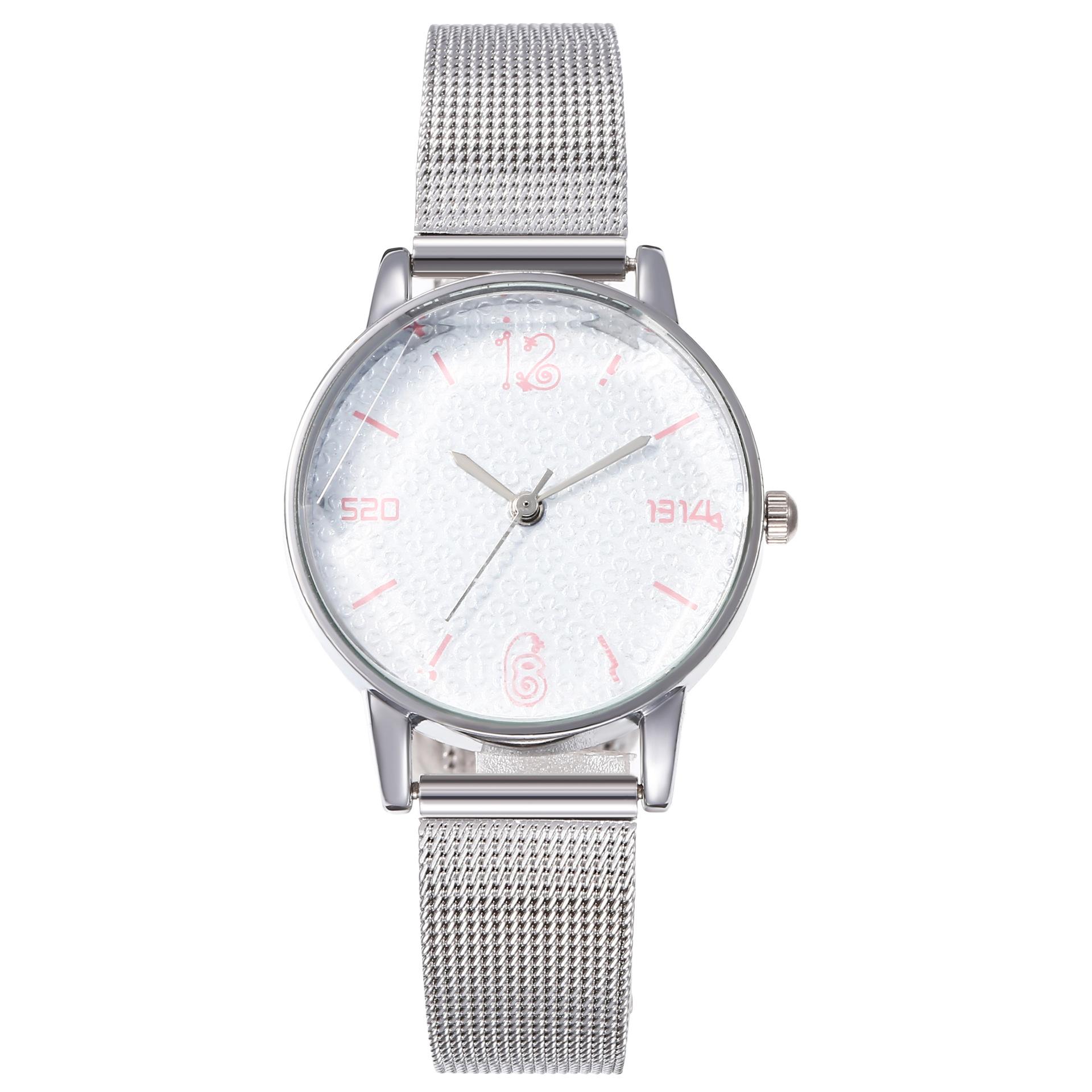Dial female mesh with quartz watch wholesales trend NHHK178354