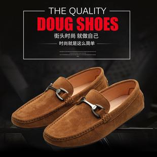 男士舒适户外休闲鞋时尚百搭豆豆鞋一脚蹬懒人鞋厂家贴牌加工定制