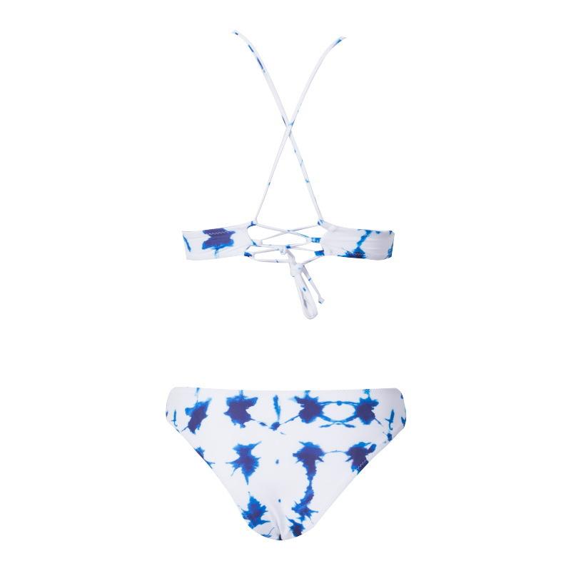 New printed twopiece bikini swimsuit sexy triangle split female swimsuit NHHL209465