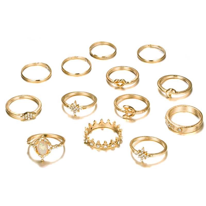 Heart-shaped plating alloy Rings NHGY134304