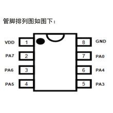 原厂按键切换控制定时LED氛围灯驱动IC梳妆台化妆镜补光灯芯片
