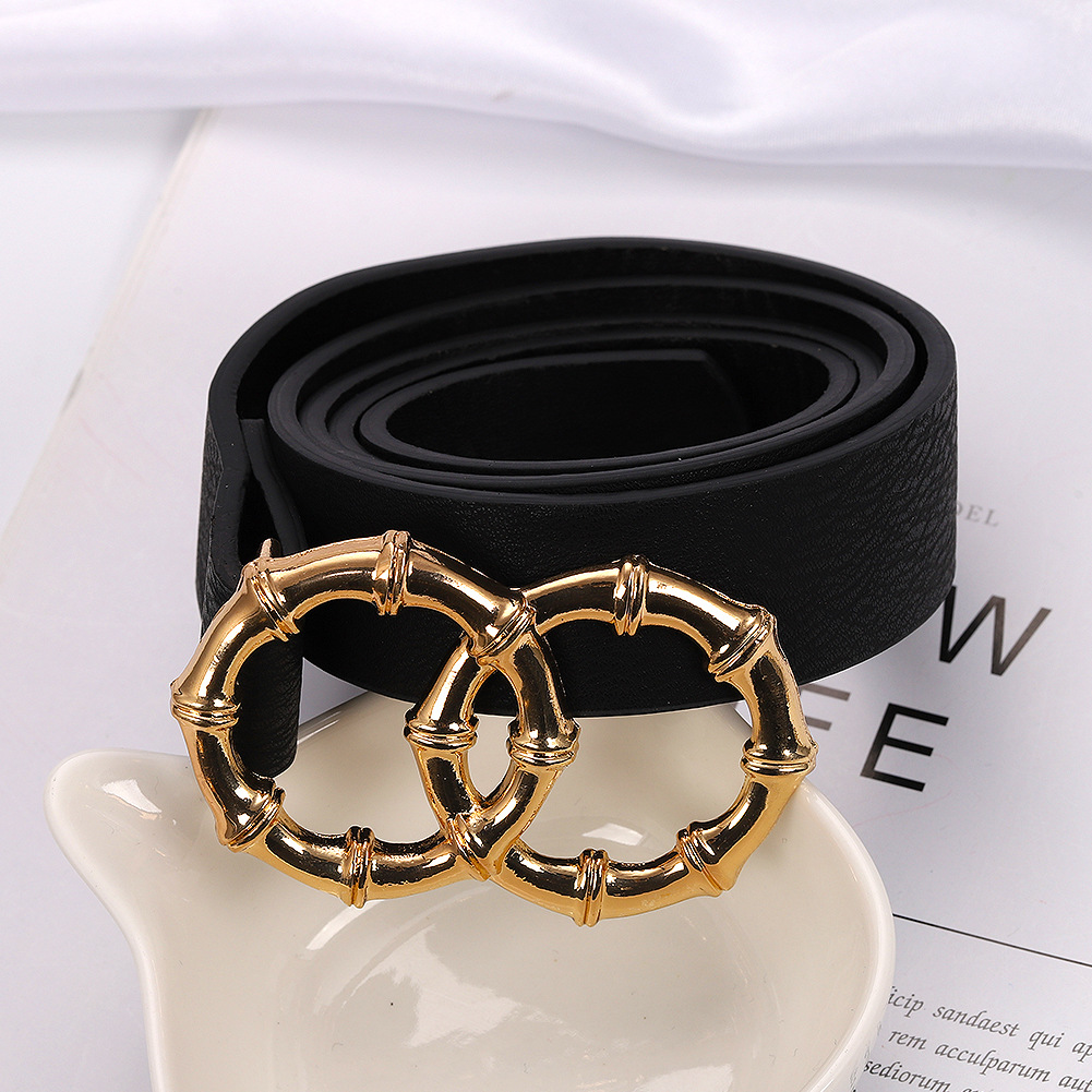 2019 new alloy belt simple wild belt buckle belt wholesale NHJQ188705
