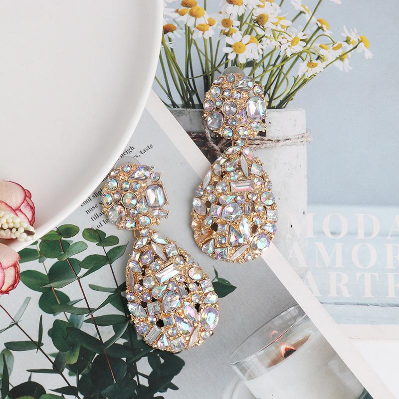 New micro stud earrings geometric water drop earrings fashion delicate jewelry wholesale NHJJ189626