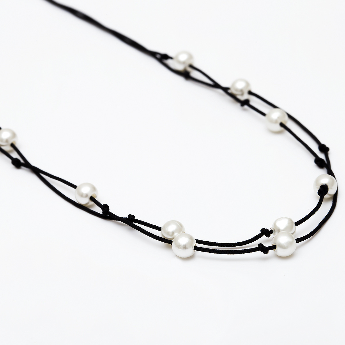 Womens Geometric Handmade Beads  Polyester Line Necklaces NHXR141714