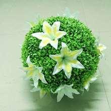 春夏季花球裝飾商場中庭汽車4S店吊飾櫥窗美陳布置仿真百合花草球