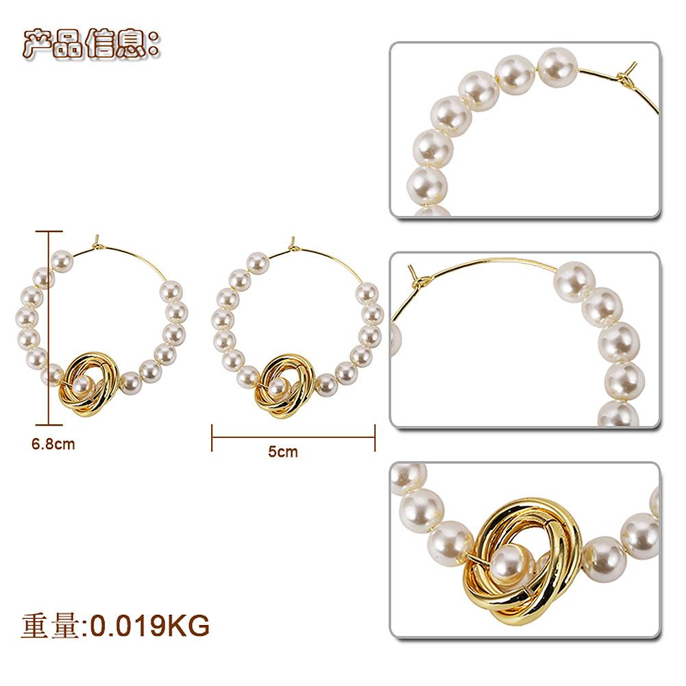 Alloy Fashion Geometric earring  (white)  Fashion Jewelry NHJQ11327-white