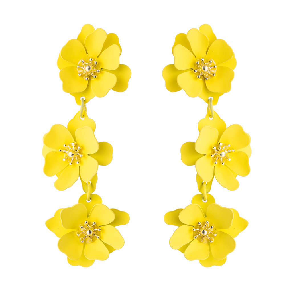 Fashion women earrings flowers fashion long boho temperament earrings NHLN192307