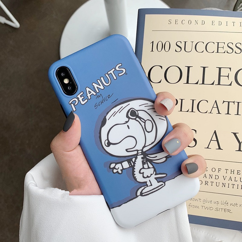 Cartoon hand drawn Snoopy Samsung note10 mobile phone case s8plus soft shell for s10 / s9 matte note8 phone case NHHC196825