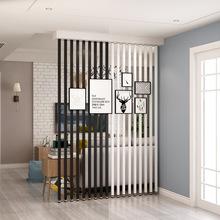 北歐屏風隔斷客廳豎條鐵藝ins柱子 房間玄關簡約現代辦公室新品批