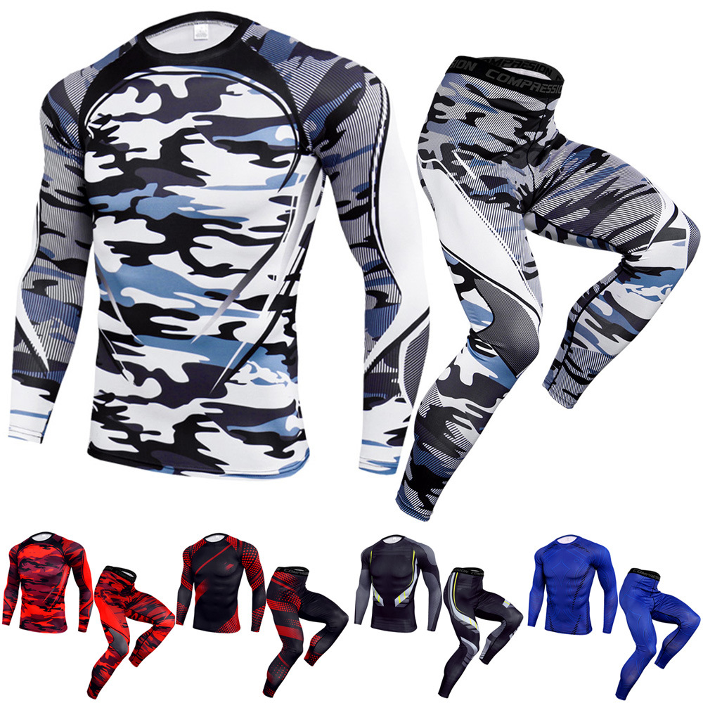 Outdoor Fitness Quick-drying Pants Basketball Stretch Running Workout Clothes Sports Suit Men