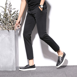Summer thin men's business leisure trousers iron-free men's slimming leisure western trousers youth pants fashion
