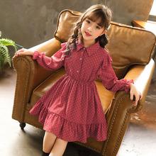 童装女童连衣裙2019新款春装洋气韩版长袖儿童公主裙女孩红色裙子
