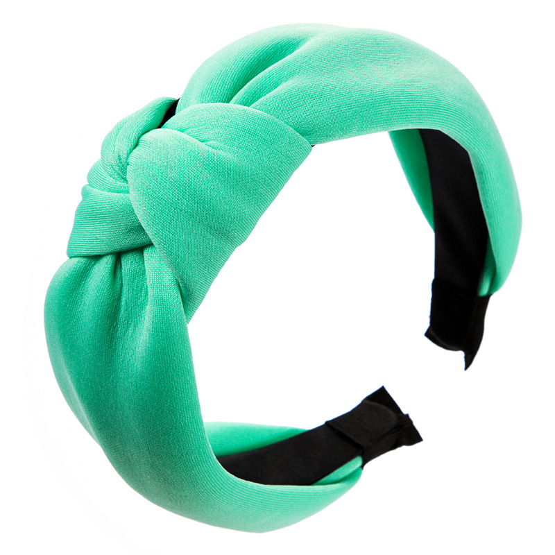 Europe and America full three-dimensional solid color knotted headband female hair accessories sponge super fairy French Christmas headband NHLN172902
