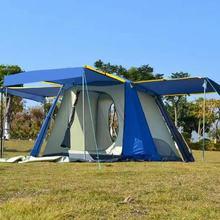 探險駱駝自動帳篷戶外3-4人雙層野營帳篷全自動帳篷防暴雨大帳篷