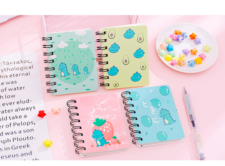 Korean cartoon portable coil notebook student notepad office stationery NHKU184732