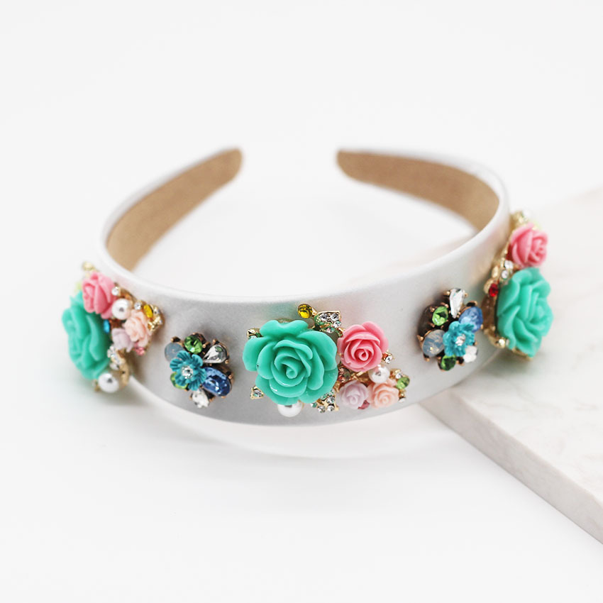 New Fashion Flower Geometric Hairband Porcelain Flower Ball Casual Girl Gift Hair Accessories NHWJ191029