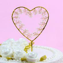 Trái tim 2019 làm bằng tay thẻ trang trí bánh tình yêu trang sức nướng tráng miệng trang trí tiệc sinh nhật trang sức ngày lễ Đạo cụ trưng bày quần áo