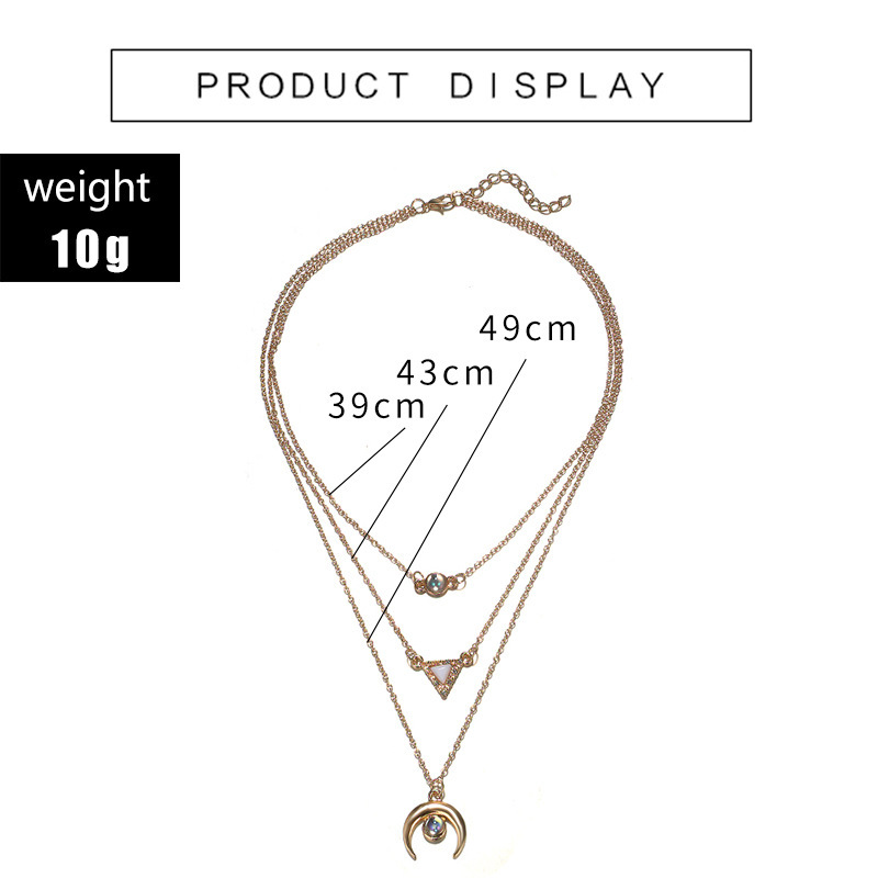 Womens Moon Plating Alloy Necklaces NHGY125576