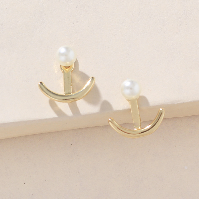 Womens Anchor Plating Alloy Earrings NHNZ122144