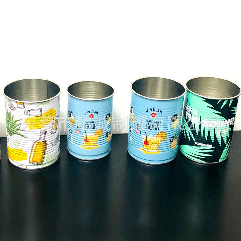 马口铁变色饮料杯罐|水杯罐|一次性鸡尾酒杯罐|锥形水杯|手柄水杯