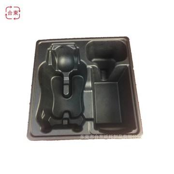 专业厂家定制包装湿压黑色环保纸托 两面光纸浆托盘 纸浆模塑制品