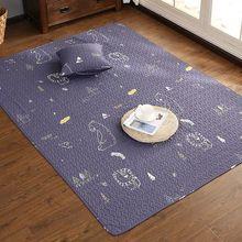 韩式可爱卡通纯棉加厚卧室客厅地垫地毯宝宝爬行垫榻榻米垫可水洗
