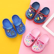 Mùa hè 2019 mới phim hoạt hình giày lỗ bé trai và bé gái dễ thương công chúa giày bé trai giày trẻ em mùa hè Kéo cát trẻ em