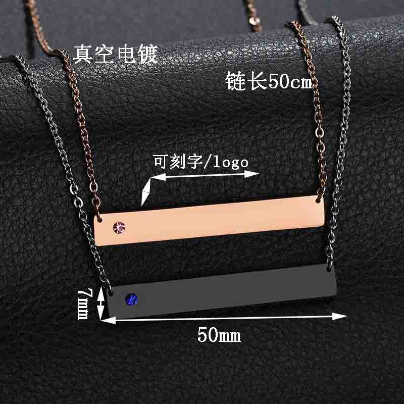 Unisex Geometry Electroplated Stainless Steel Necklaces NHHF124931