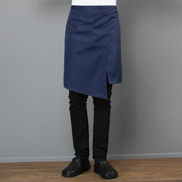 开叉围裙酒店工作韩版时尚男女厨房餐厅奶茶店咖啡师防污斜兜围裙