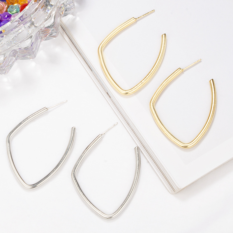 Womens U-shaped plating alloy Earrings GY190429119794