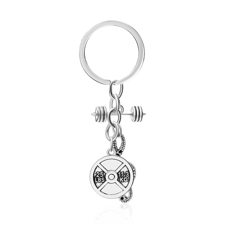 explosion keychain street fitness dumbbell note pendant keychain pendant accessories wholesale nihaojewelry NHMO220437