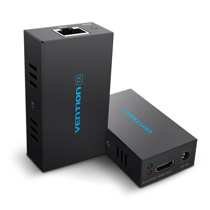 威迅hdmi网络延长器高清视频转rj45单网线传输转换HDMI信号放大器