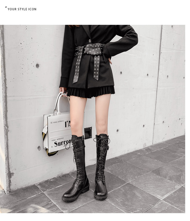 New belt buckle non-slip thick with knight boots high boots women's boots NHHU171626