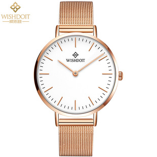 watch Swiss new waterproof European and American ladies watch foreign trade simple quartz new ultra-thin mesh strap watch