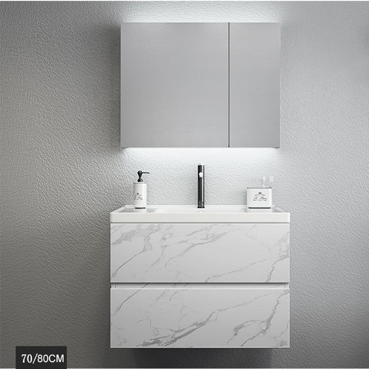 爆款智能除雾免漆实木浴室柜洗手台柜盆组合卫生间洗漱台