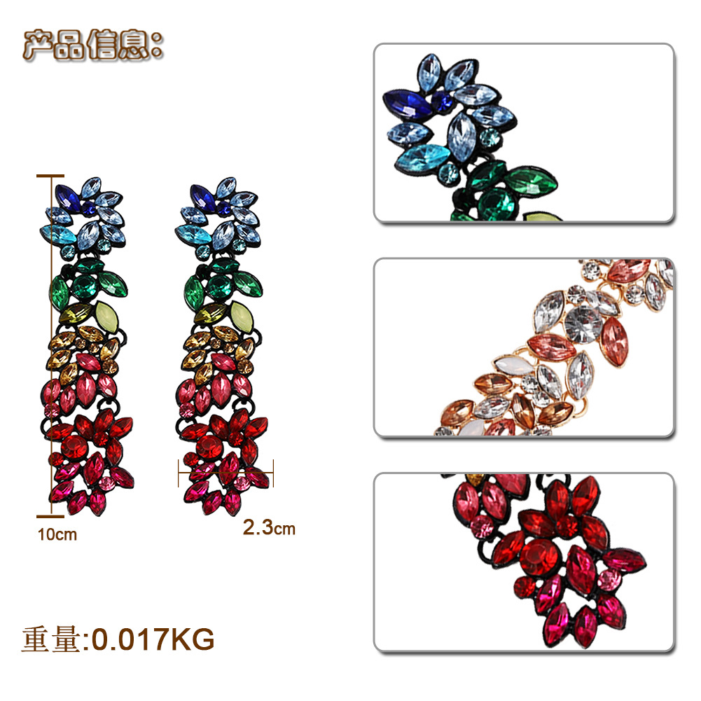 Alloy Fashion Flowers earring  color  Fashion Jewelry NHJQ11262color