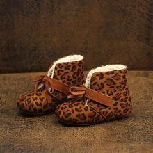 秋季冬季兒童韓版靴子女童軟底豹紋短靴單靴寶寶休閑時尚雪地棉靴
