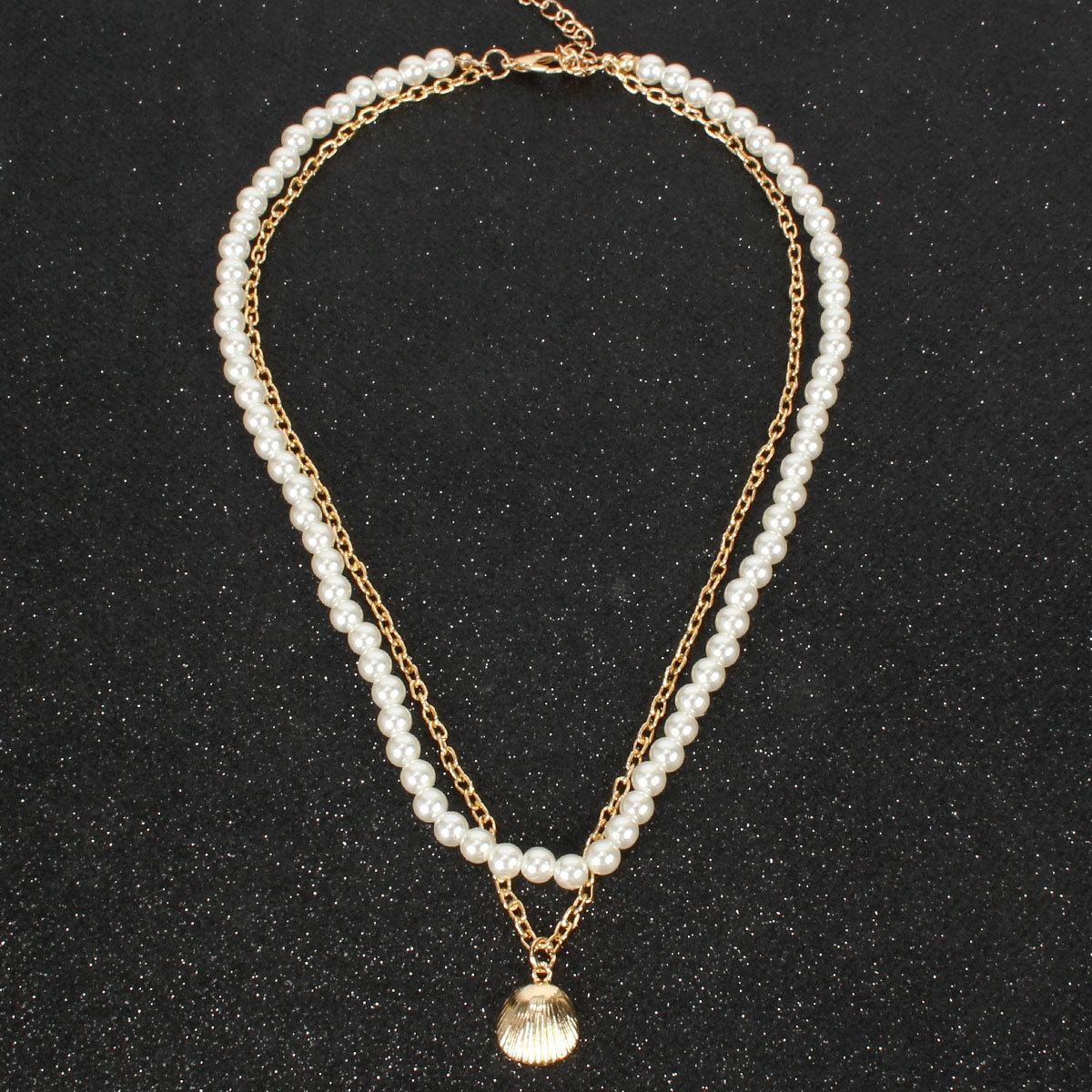 Personality simple imitation pearl shell pendant necklace female necklace NHCT177390
