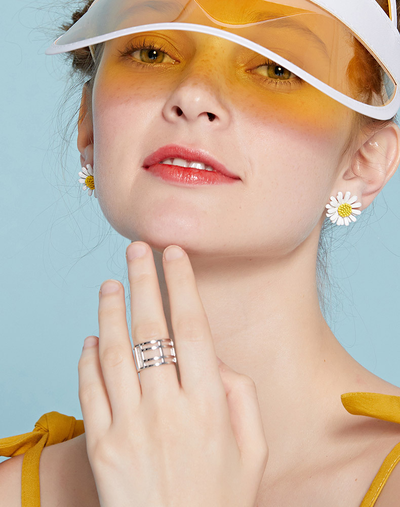 Fashion cold wind net red food finger ring NHLL157255