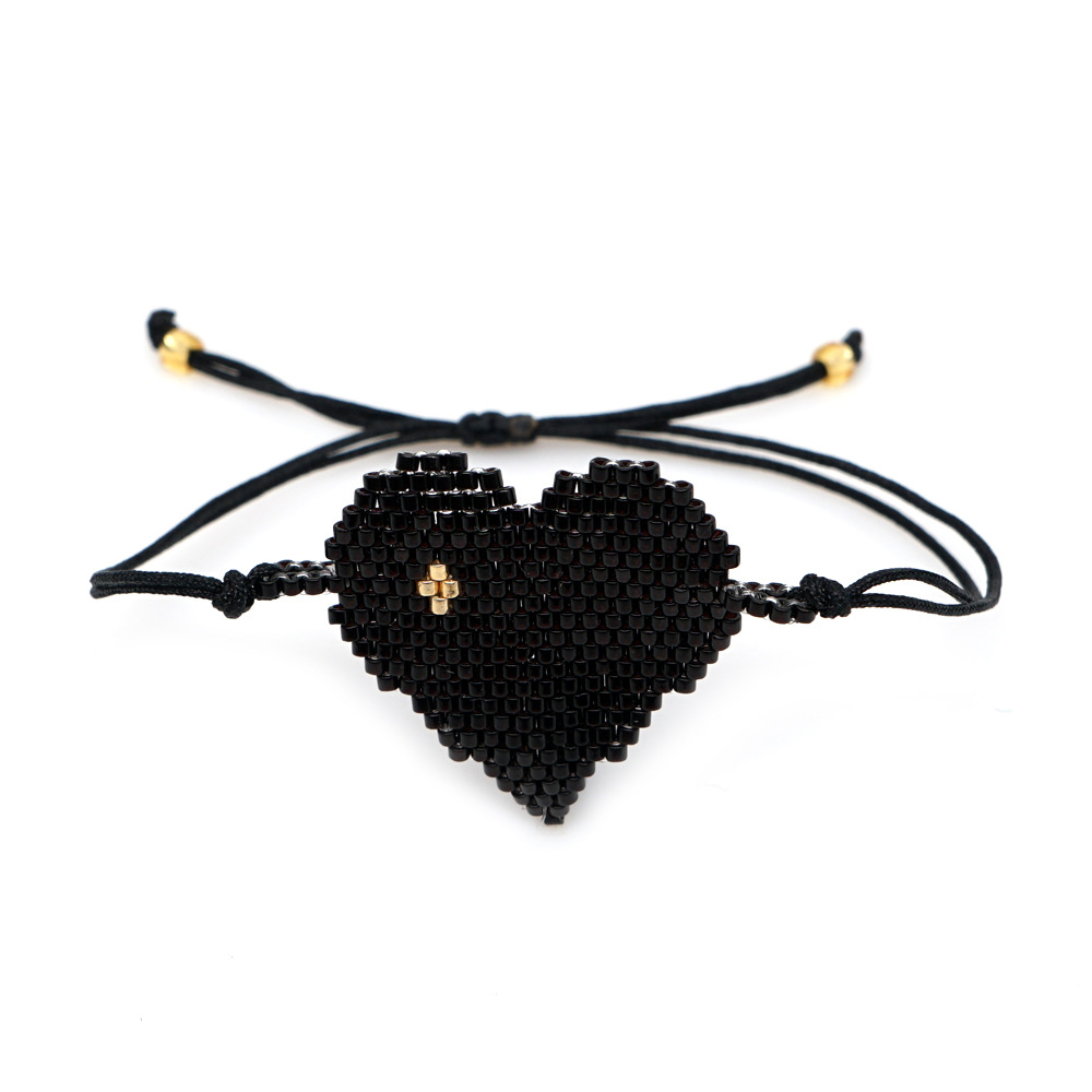 Miyuki rice beads handwoven evil eye bracelet punk style love jewelry wholesale nihaojewelry NHGW232269