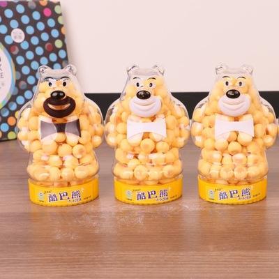 新款创意卡通小熊小馒头瓶快消食品 儿童休闲糖果小零食 厂家批发