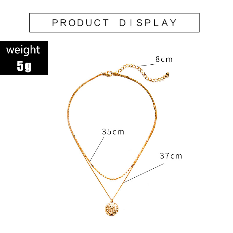 Womens portrait plating alloy Necklaces NHGY125524