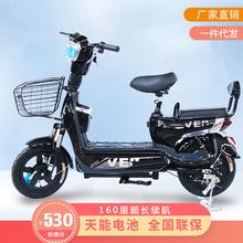 厂家直销新款电动车 48v成人双人电动自行车 两轮小型代步电瓶车