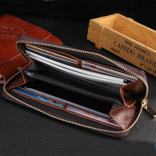 Wallet Men's and Women's Mobile Phone Bags European and American Fashion Clutches Letters Presbyopia Foreign Trade Zipper Women's Large-capacity Clutches