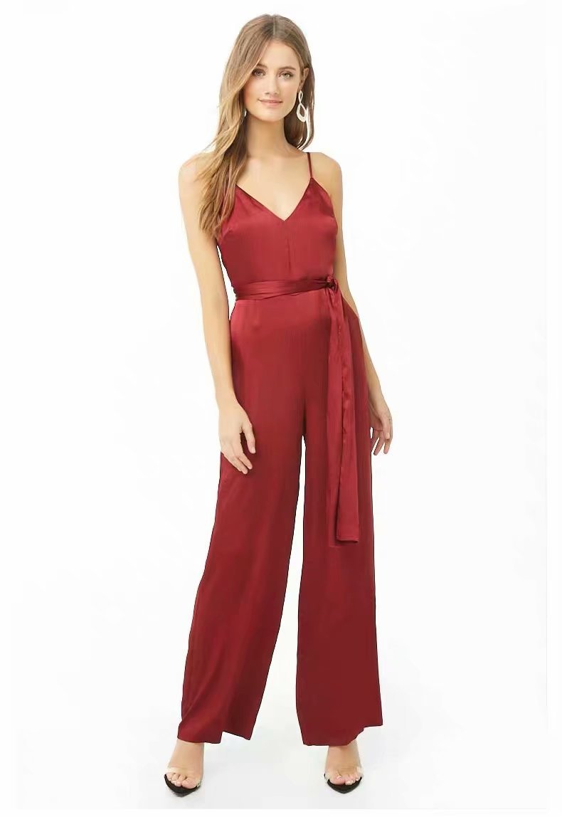 Polyester Fashionpants(red-S) NHDS0744-red-S
