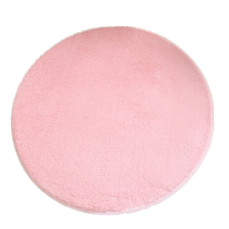 Round carpet (pink coral fleece)